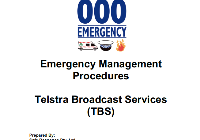 Sydney Emergency Management Plans